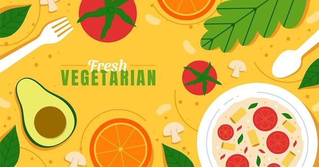 Post di facebook di cibo vegetariano disegnato a mano