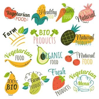 Ручной обращается вегетарианские этикетки