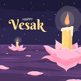 Hand drawn vesak concept