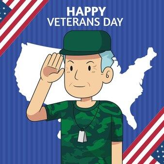 Hand drawn veteran's day background