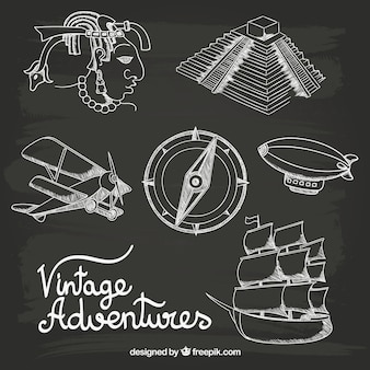 Hand drawn vintage adventures
