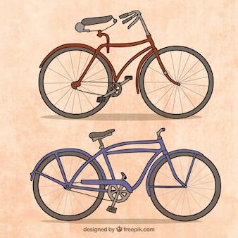 손으로 그린 빈티지 자전거