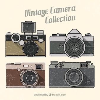 Collezione di fotocamera vintage tratto a mano