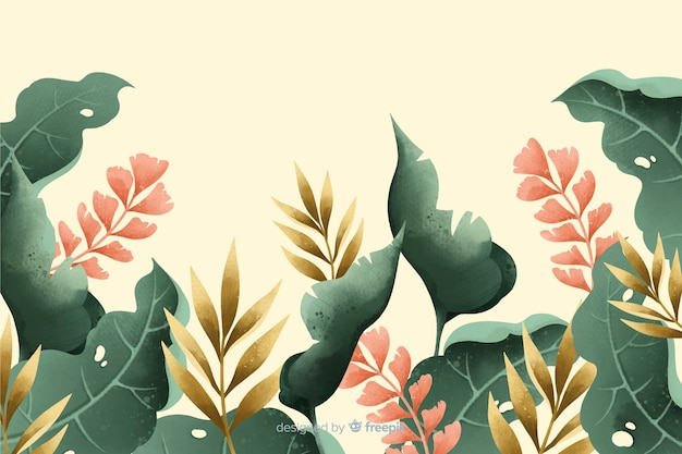 Hand drawn vintage garden background