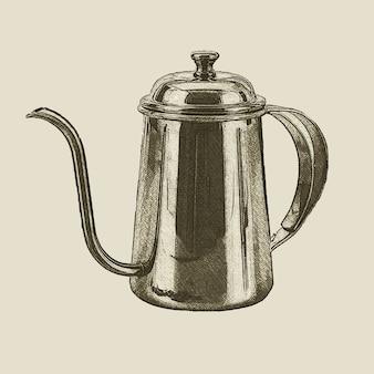 Hand drawn vintage kettle