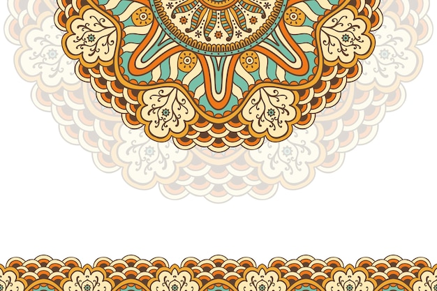 手描きのヴィンテージ曼荼羅の背景