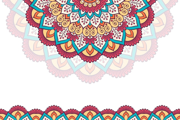 Hand drawn vintage mandala background