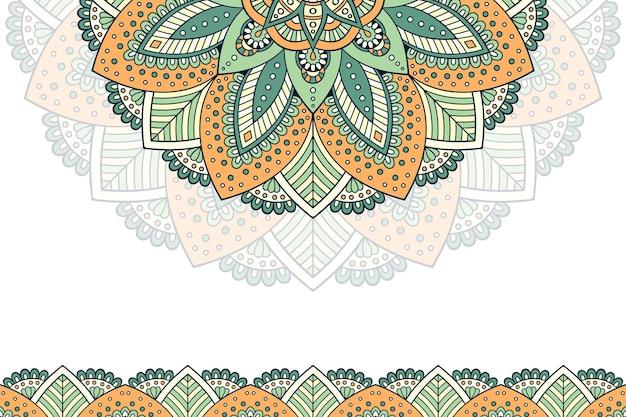 Hand drawn vintage mandala background