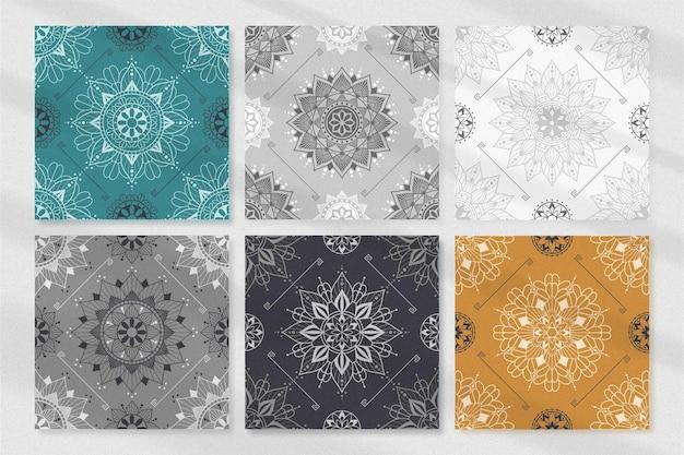 手描きのヴィンテージ曼荼羅飾りパターンコレクション
