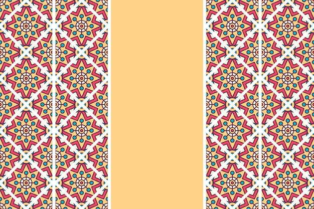 손으로 그린 된 빈티지 만다라 원활한 패턴