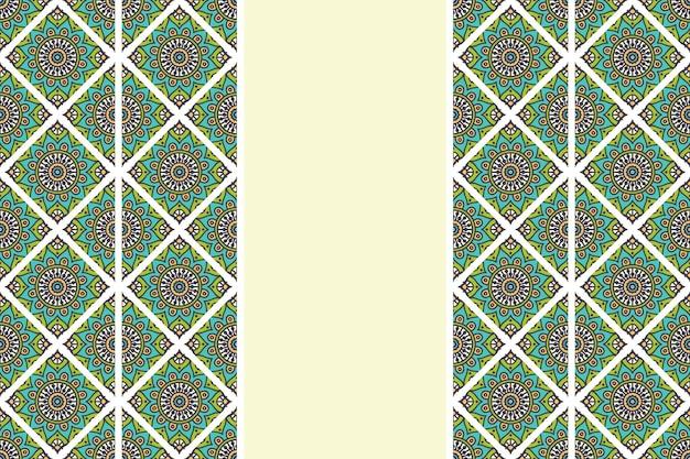 Hand drawn vintage mandala seamless pattern