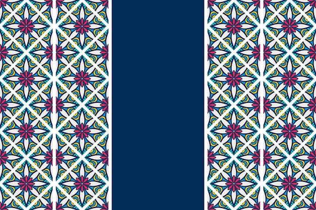 手描きのヴィンテージ曼荼羅シームレスパターン
