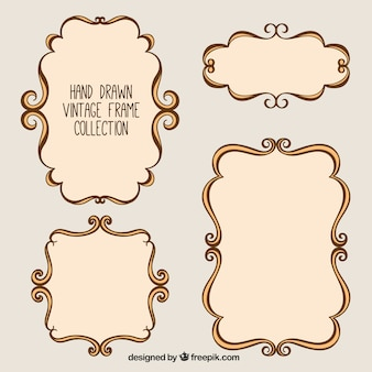 Hand drawn vintage photo frames