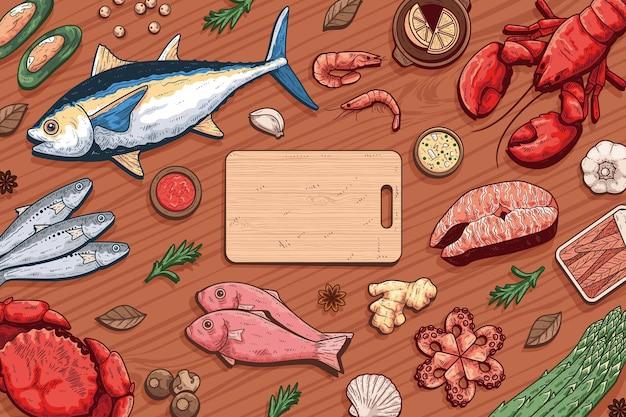 Ручной обращается старинные морепродукты