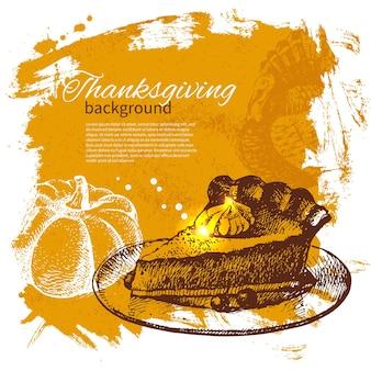 Ручной обращается старинный фон дня благодарения