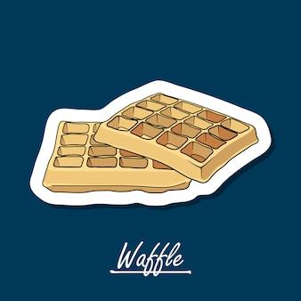 Hand-drawn waffle