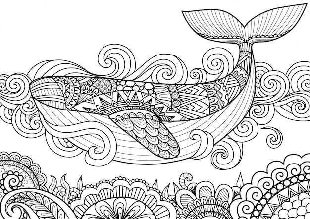 Hand drawn wale