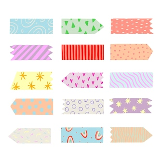 Hand drawn washi tape collection