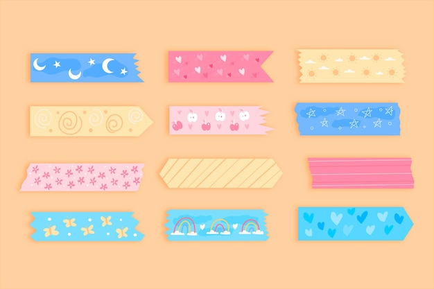 Hand drawn washi tape collection