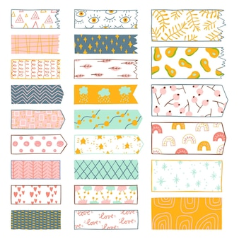 Hand drawn washi tape set