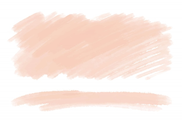 手描き水彩ブラシの汚れ。ヌードカラー塗装ストロークセット。