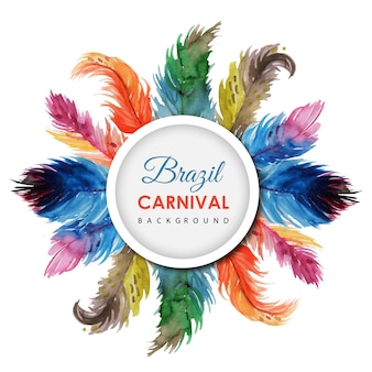 Hand Drawn Watercolor Carnival Background