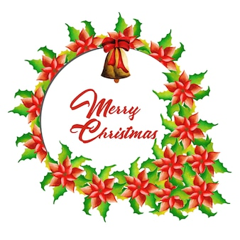 手描きの水彩クリスマスフレームデザイン