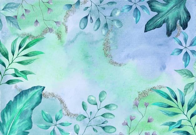 Ручной обращается акварель цветочный фон