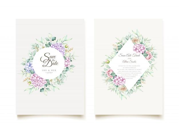 Carta di invito floreale acquerello disegnato a mano