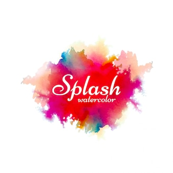 Hand drawn watercolor splash design background