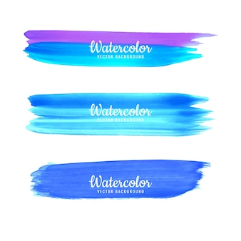 Hand drawn watercolor stroke colorful shade design