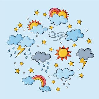 手描きの天気効果