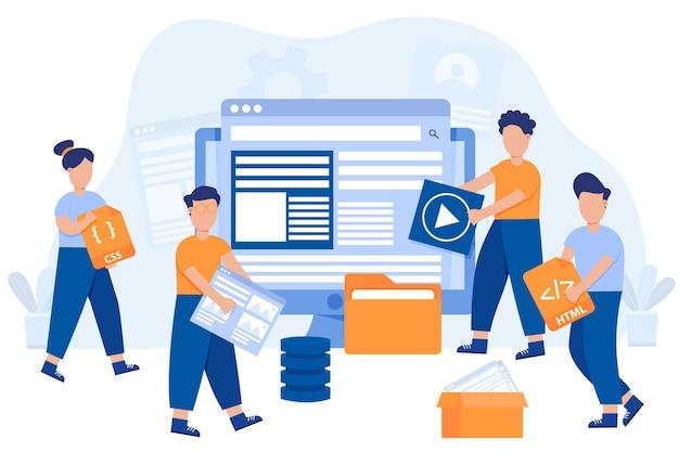 Sviluppatori web disegnati a mano
