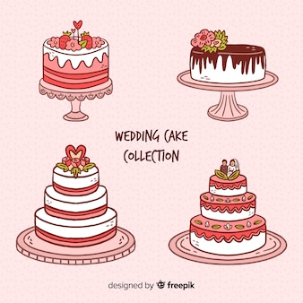 Hand drawn wedding cake collection