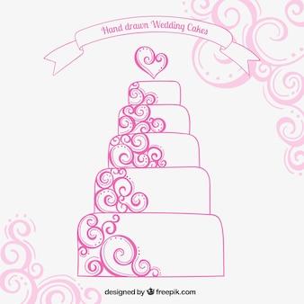 Ручной обращается свадебный торт