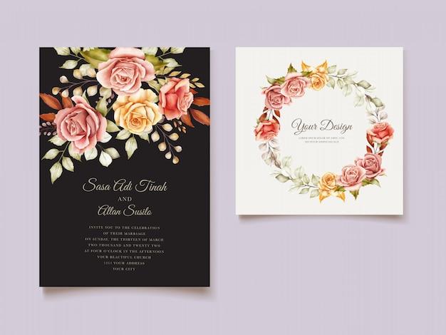 Ручной обращается свадебный шаблон карты