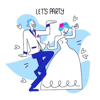Ручной обращается свадебные пары