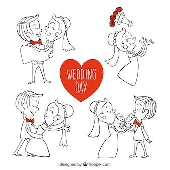 Ручной обращается иллюстрации день свадьбы