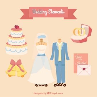 Ручной обращается свадебные элементы упаковки