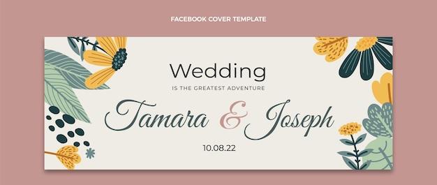 手描きの結婚式のfacebookカバー