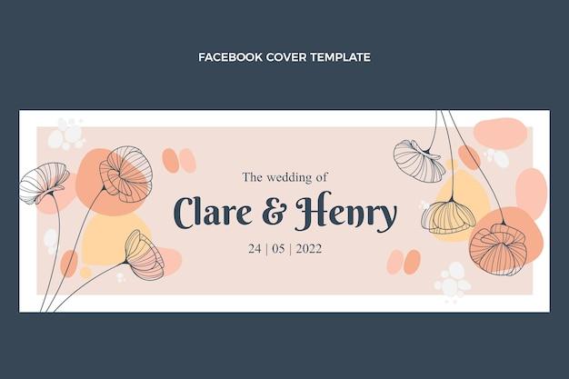 Copertina facebook di matrimonio disegnata a mano