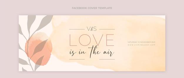 Hand drawn wedding facebook cover