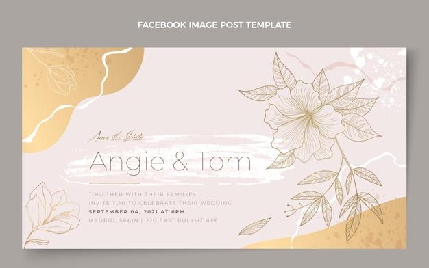 Post di facebook di matrimonio disegnato a mano