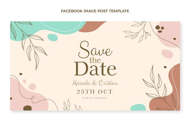 Hand drawn wedding facebook post