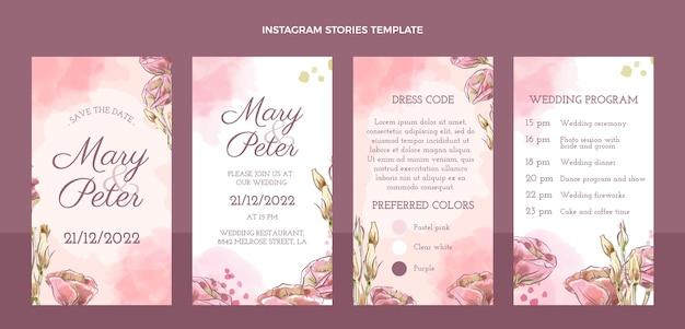 手描きの結婚式のinstagramの物語のコレクション