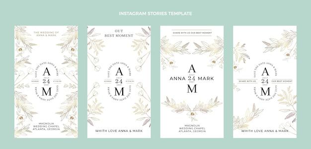 Hand drawn wedding instagram stories
