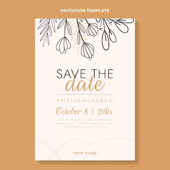 Ручной обращается свадебное приглашение
