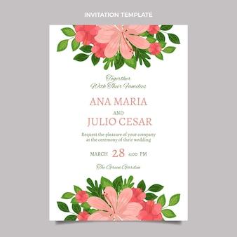 手描きの結婚式の招待状