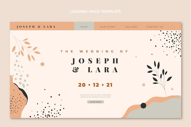 Hand drawn wedding landing page