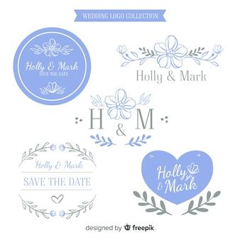 Hand drawn wedding logo collectio